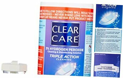 CLEAR CARE Cleaning & Disinfection Solution with Lens Case, 12-Ounces