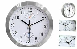 hito Modern Silent Wall Clock Non ticking 10 inch Excellent Accurate Sweep Movem