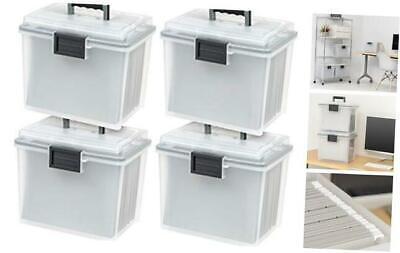Ucb-hfb Letter Size Portable Weathertight File Box 4 Pack Clear