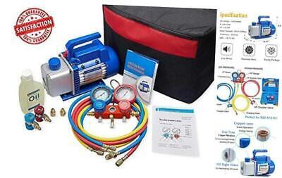 4cfm 13hp Air Vacuum Pump Hvac Ac Refrigeration Tool Kit Acauto Repair Equip