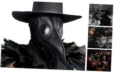 Halloween Plague Doctor Masks for Adults, Steampunk Bird Mask Long Beak Masquera