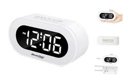 Small LED Digital Alarm Clock with Snooze, Simple to Operate, Full Range Bright