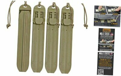 "VANQUEST 5"" MOLLE Sticks (4 Pack) Coyote Tan"