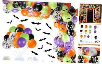 155 Pieces Halloween Balloon Garland Arch Kit Include Latex Balloons,
