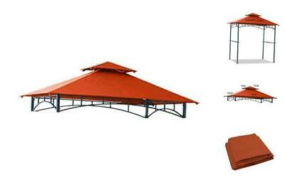 Hofzelt 5x8 Grill Gazebo Replacement Canopy BBQ Tent Double Tiered Roof Top Cove