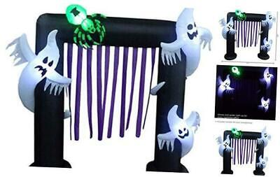 Inflatable Outdoor Halloween Decoration, Ghost Arch, 8 Feet Tall