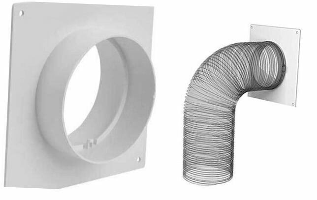 Duct Connector Flange, Plastic Straight Pipe Flange for Heating Cooling 4 Inch