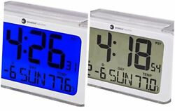 Ambient Weather RC-8320 Self Setting Digital Alarm Clock with Radio Controlled T
