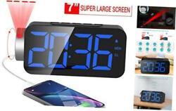 M-Better Projection Alarm Clock,10 FM Radio, Digital Alarm Clock with USB Phone