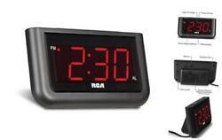 RCA Digital Alarm Clock - Large 1.4 LED Display with Brightness Control and Rep