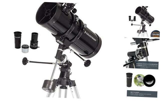 - PowerSeeker 127EQ Telescope - Manual German Equatorial Telescope for