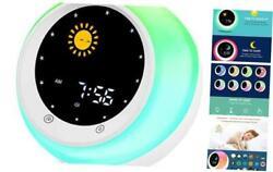 Sun & Moon Rise Kids Alarm Clock, Children's Sleep Trainer,Sleep Sound Machine,