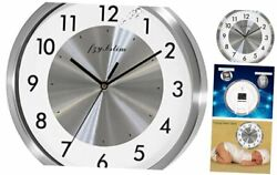 Fzy.bstim Non Ticking Silent Wall Clock Decorative,Analog Stainless Steel Wall