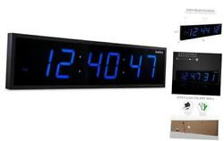 DBTech Huge Large Big Oversized Digital LED Clock, Blue - 36