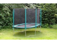 Skyhigh Oval 8ftx14ft Trampoline with safety enclosure and winter cover