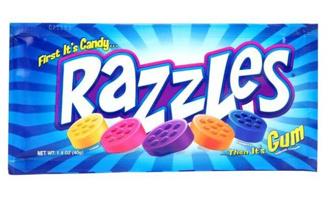 Razzles Original Pouch American Bubble Gum 1.4 OZ (40g) from Candy Junction