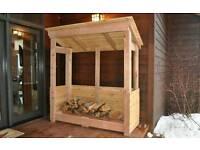 Hand built Log Store