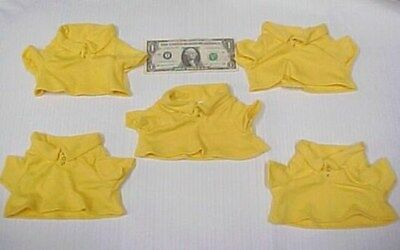 Lot 5 Greek Doll Clothes Yellow Polo Shirts, Tops, Teddy Bear Figurine Dress New