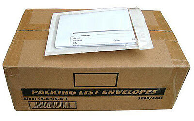 4.5x5.5 Clear Packing List Invoice Envelopes Self Adhesive 2.5mil Fast