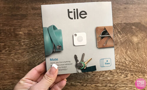 Tile  Bluetooth Tracker  :	 Tile Mate - 4 Pack  with replaceable battery