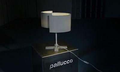 Pallucco lampada da tavolo Joiin telaio e paralume in tessuto colore Argento