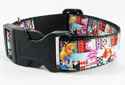 Dog In Alice In Wonderland (Alice in Wonderland dog collar handmade adjustable buckle collar 1