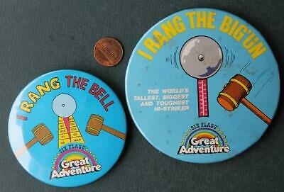 1979 New Jersey Six Flags Great Adventure I Rang The Bell-Hi-striker 2 pin set!*