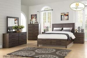 Storage Bedroom Set in a Brown finish - Bedroom Fruniture Sale (BD-2328)