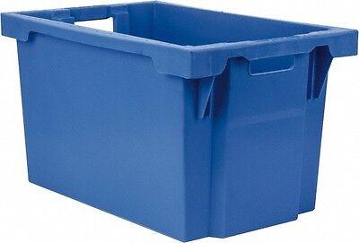 "SSI Schaefer 2.19 Cu. Ft. Blue Polypropylene Tote Container 23.7"" Long x 15.8..."