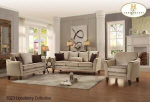 Velvet Beige Sofa and Loveseat on Sale (BD-2434)