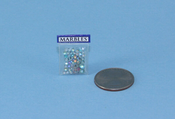 FABULOUS 1:12 Scale Dollhouse Miniature Bag of Loose Marbles #HCX92