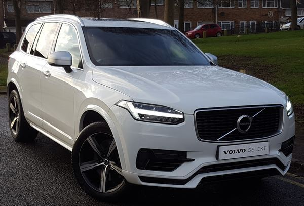 volvo xc90 t8 twin engine r design 5dr geartronic white. Black Bedroom Furniture Sets. Home Design Ideas