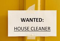 Looking for cleaning lady
