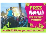 FREE WOMAD TICKETS 26th - 29th July 2018