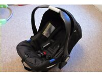 carseat and baby carrier