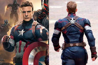 Avengers 2 Age of Ultron Leather Costume Captain America Chris Evans Jacket