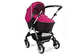 silver cross pink 3 n 1 pram imaculate condition hardly used