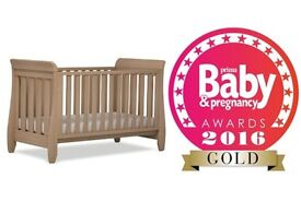 Brand New Boori Urbane Sleigh Cot Bed-Almoned RRP£600