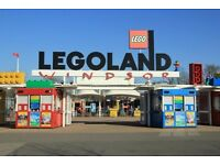 4 tickets for legoland Windsor 30th October 2017