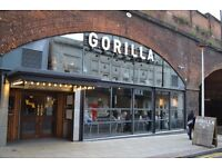 GORILLA// BAR.KITCHEN.CLUB.STAGE// We are looking for fun + authentic bar and waiting staff