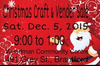 Venders/Crafters Wanted for Christmas Craft Sale