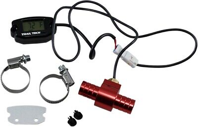 Trail Tech Surface Mount Temperature Meter with Water Hose Sensor Black 16.00mm