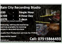Professional recording studio and band rehearsal space in Manchester - affordable rates!