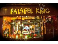 Kitchen Staff/Part time/Falafel King Bristol. Experience needed, cooking, food prep, cleaning.