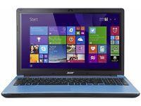 "Blue Acer Aspire E5-571 15.6"" Laptop - Intel core i3"
