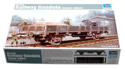 Trumpeter 9361518 Zuggondel Flache Seiten 1:35 Eisenbahn Zugwaggon Modellbausatz