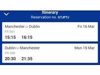 Flights Manchester to Dublin Return March 16th to 19th