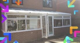 Large - already dismantled - UPVC Conservatory lean to outbuilding