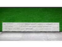 """Brand New Concrete Gravel Boards, 6ft wide x 1ft or 6"""" high, plain or rock face"""