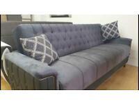 🤘🏻💓2020 MEGA SALE TURKISH DESIGN FABRIC STORAGE SOFA BEDS SETTEE BLACK BROWN GREY SOFABED